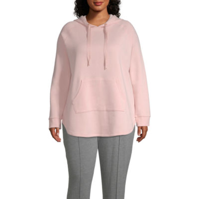 Xersion Womens Long Sleeve Fleece Hoodie-Plus