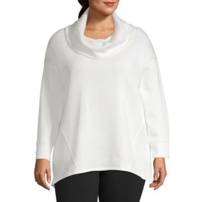 Xersion Cowl Neck Sweatshirt - Plus