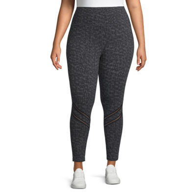 Xersion High Waist Legging w/ Insets - Plus