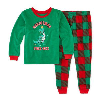 Sleepy Nites Buffalo Check Family Boys 2-pc. Pant Pajama Set Toddler