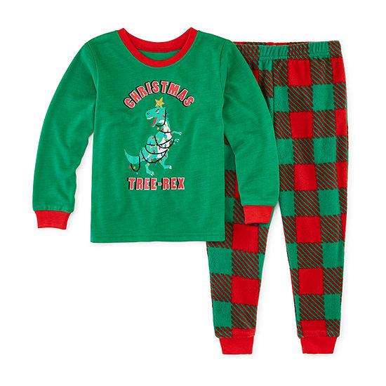 Sleepy Nites Buffalo Check Family Toddler Boys 2-pc. Pant Pajama Set