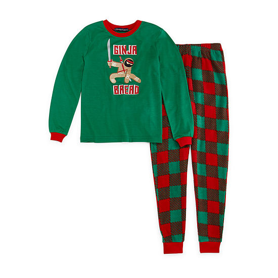 Sleepy Nites Buffalo Check Family Little & Big Boys 2-pc. Pant Pajama Set