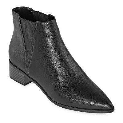 a.n.a Womens Garwin Block Heel Elastic Booties