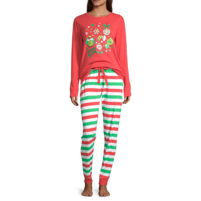 Dr. Seuss Grinch Family Women's Petite 2 Piece Pajama Set