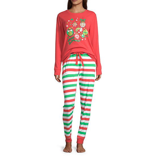 Dr. Seuss Grinch Family Women's Tall 2 Piece Pajama Set