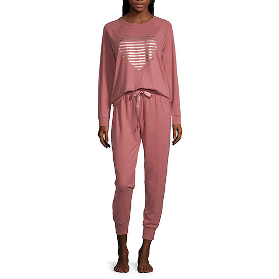 Ambrielle Womens-Tall Pant Pajama Set 2-pc. Long Sleeve