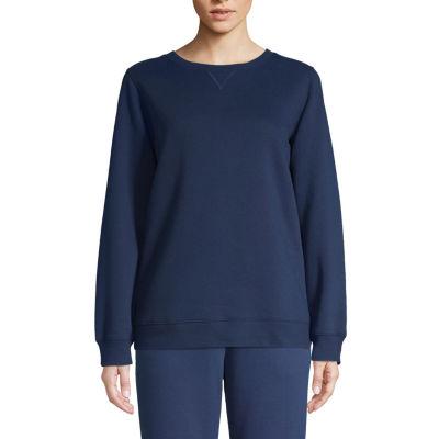St. John's Bay Active Tall Womens Crew Neck Long Sleeve Sweatshirt