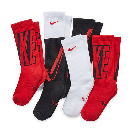 Nike 6 Pair Crew Socks Boys Big Kid