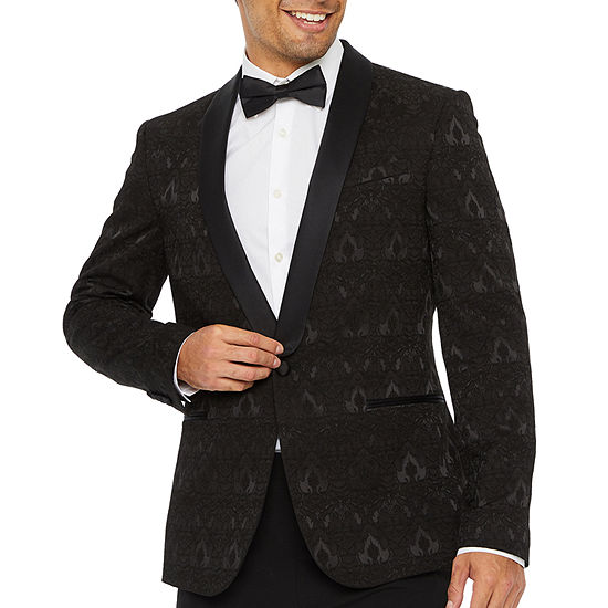 JF J.Ferrar Evening Edition Jacquard Mens Slim Fit Sport Coat