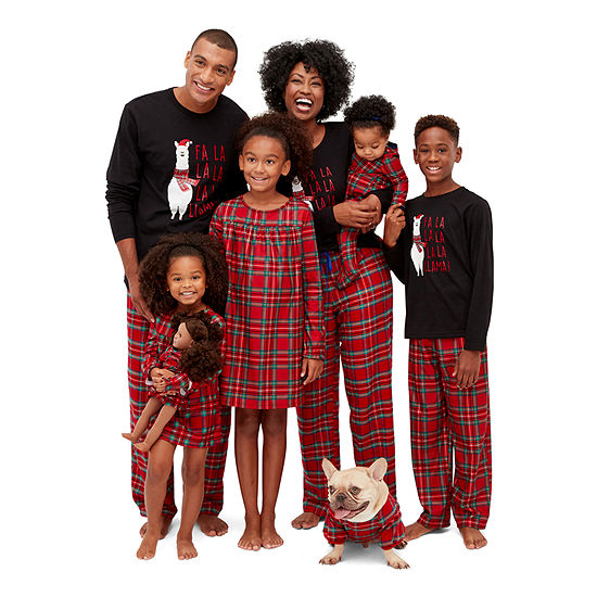 North Pole Trading Co. Fa La Llama Family Pajamas