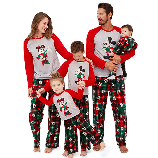 Disney Mickey Mouse and Minnie Graphic Tee Family Pajamas