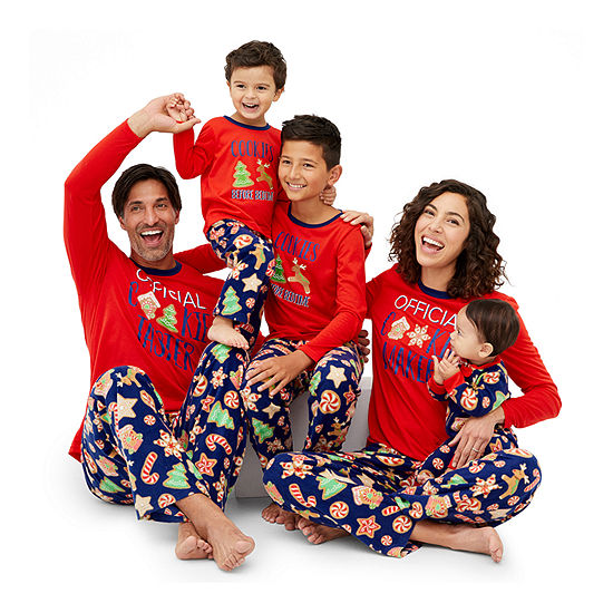 Secret Santa Cookie Family Pajamas