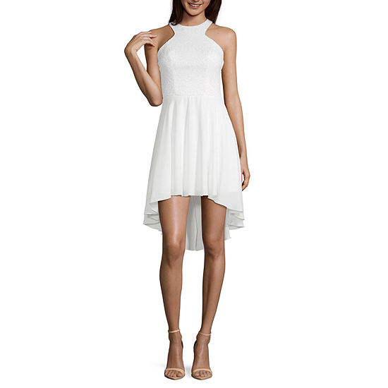 Speechless-Juniors Sleeveless High Low Fit & Flare
