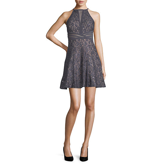 R & M Richards-Juniors Sleeveless Dress Set