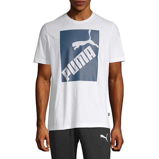 Puma Big Logo Mens Crew Neck Short Sleeve T-Shirt