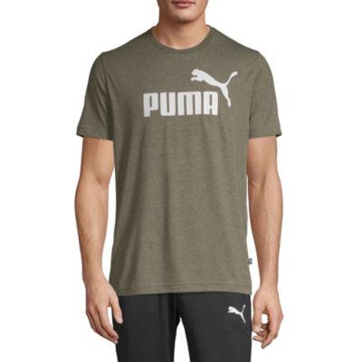Puma Essential Logo Mens Crew Neck Short Sleeve Moisture Wicking T-Shirt
