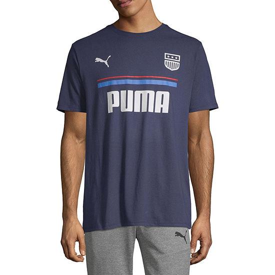 Puma Badge Mens Crew Neck Short Sleeve T-Shirt