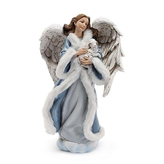 Roman Angel And Lamb Figurine