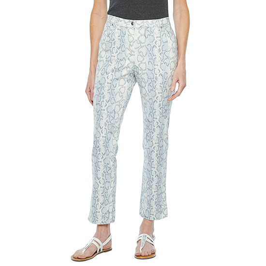 Hearts Of Palm Steeling The Scene Womens Mid Rise Regular Fit Ankle Pant
