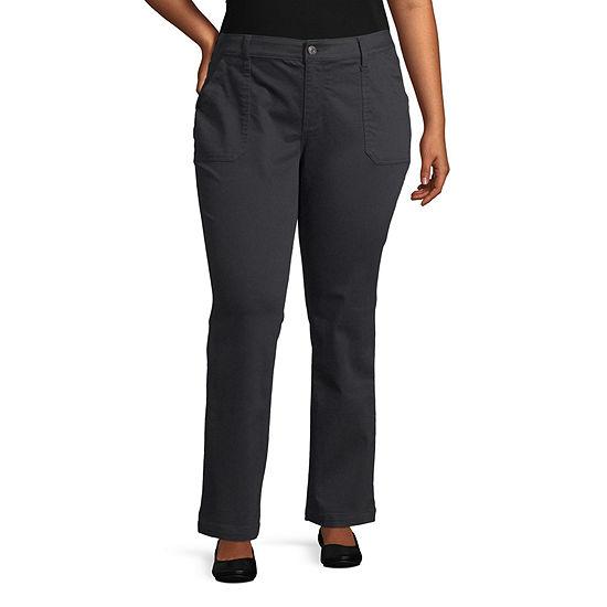 St. John's Bay-Plus Straight Fit Straight Trouser