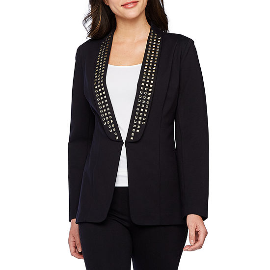 Bold Elements Womens Ponte Blazer