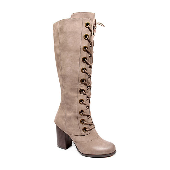 2 Lips Too Womens Lolly Block Heel Dress Boots