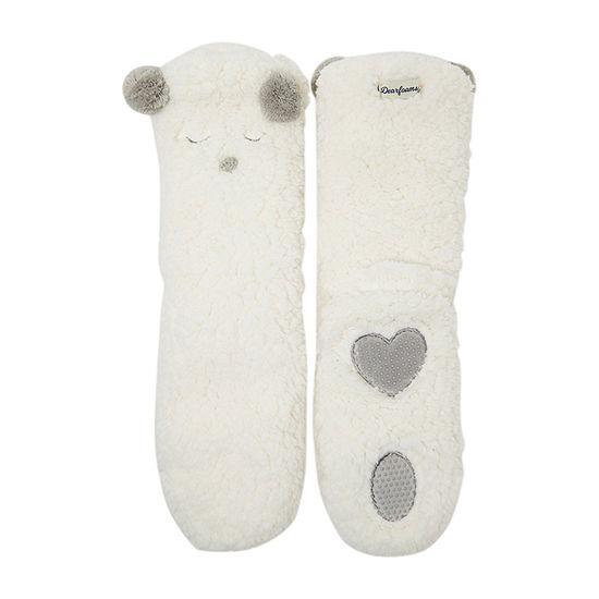 Dearfoams Faux Shearling Sock Womens Bootie Slippers