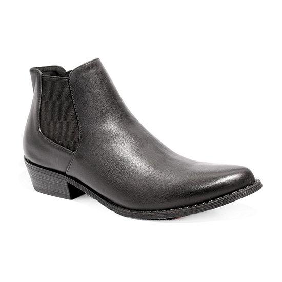 2 Lips Too Womens Reggie Cowboy Boots Stacked Heel