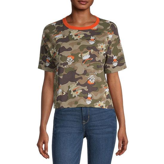 Juniors Fashion Hanging Capsule Womens Crew Neck Short Sleeve Graphic T-Shirt