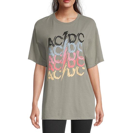 Juniors AC/DC Oversized T-Shirt