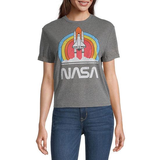 Juniors Nasa Short Sleeve Graphic T-Shirt