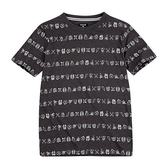 Hurley Big Boys Crew Neck Short Sleeve Graphic T-Shirt