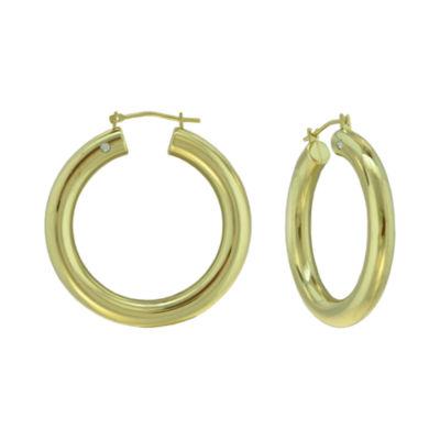 Prestige Gold™ 14K Yellow Gold Over Resin Hoop Earrings