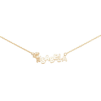 Personalized Dora Girls Name Necklace