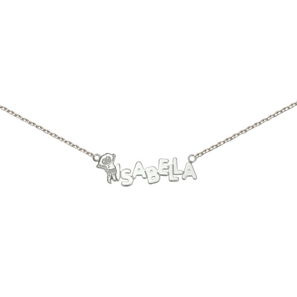 Personalized Dora Girls Sterling Silver Name Necklace