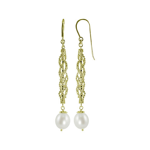 Cultured Freshwater Pearl & Brilliance Bead Drop Earrings