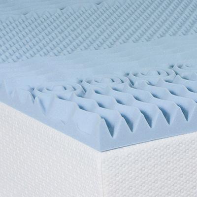 """Snuggle Home™ 3"""" Gel Memory Foam Multi-Zone Mattress Topper"""