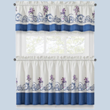 jcpenney.com | Afternoon Tea Two-Tone Kitchen Curtains