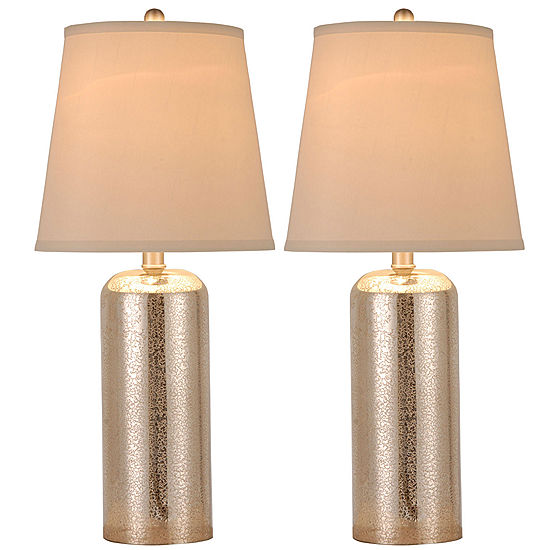 Jcpenney Home Set Of 2 Mercury Gl Table Lamps