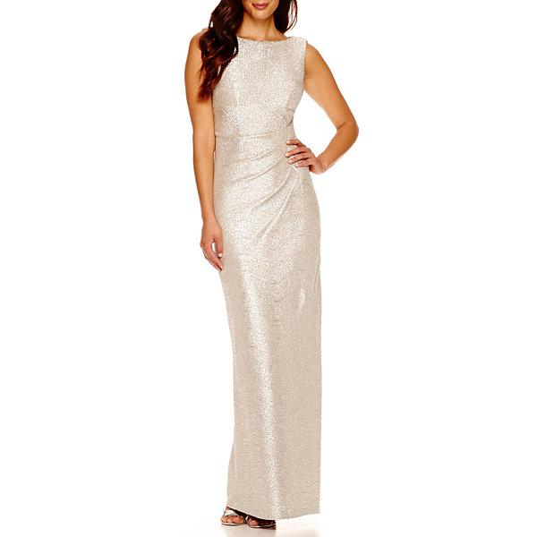 Blu Sage Sleeveless Drape-Back Metallic Formal Gown - JCPenney