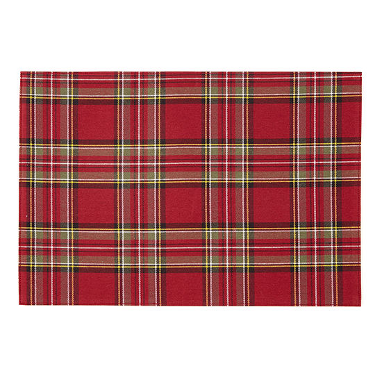 JCPenney Home™ Tartan Plaid Set of 4 Placemats