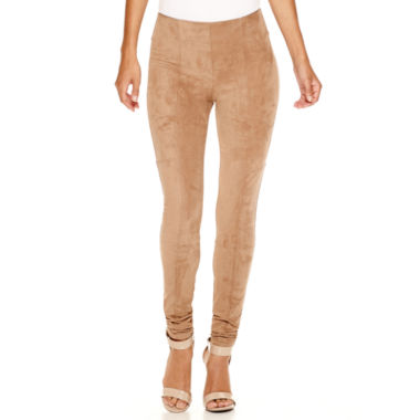 Worthington® Faux-Suede Leggings