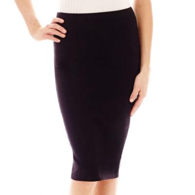 Decree® Midi Bodycon Solid Skirt