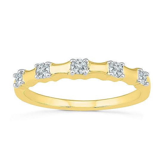 2MM 1/4 CT. T.W. Genuine White Diamond 10K Gold Band