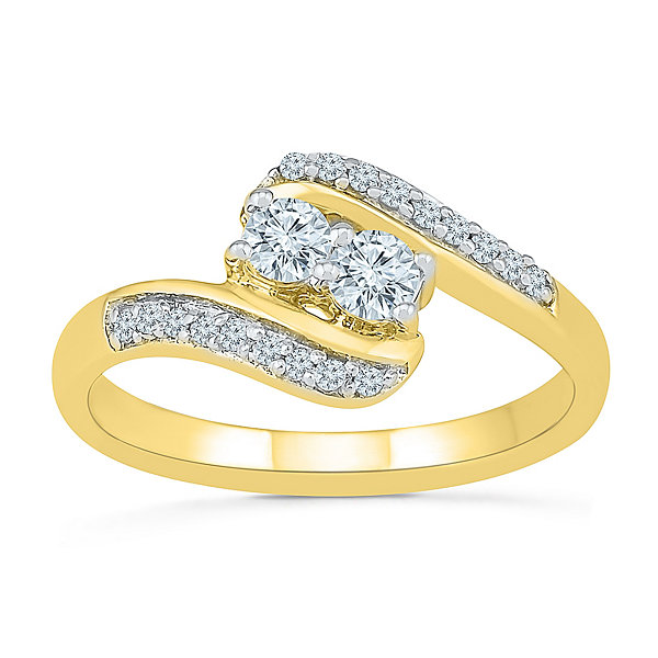 Womens 3/8 CT. T.W. Genuine White Diamond 10K Gold Band