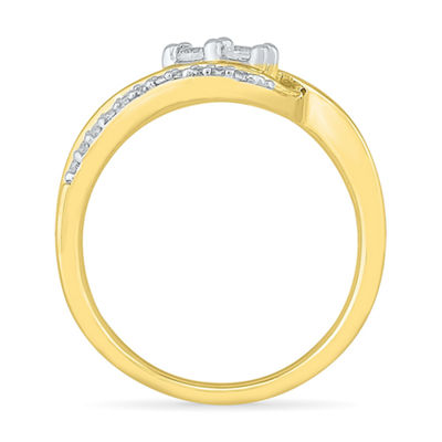 Womens 2mm 1/3 CT. T.W. Genuine White Diamond 10K Gold Band