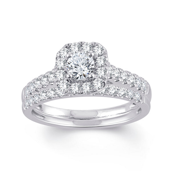T.W. Genuine White Diamond 10K Gold Engagement Ring