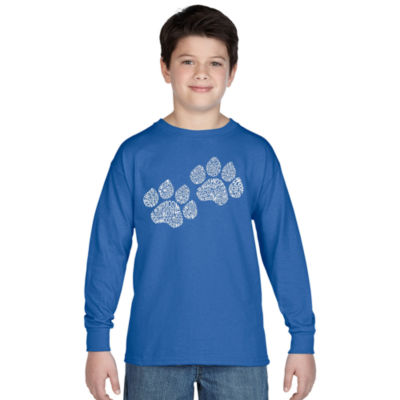 Los Angeles Pop Art Woof Paw Prints Graphic T-Shirt Boys