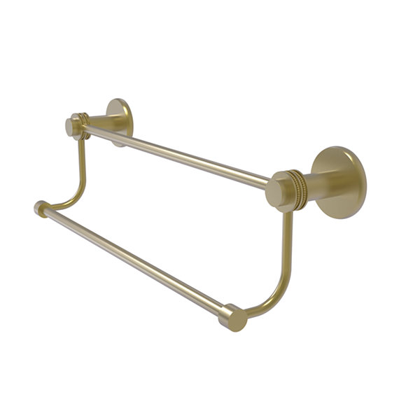 Mercury Collection Double Towel Bar with Dotted Accents