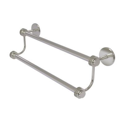 SATELITE ORBIT TWO COLLECTION DOUBLE TOWEL BAR WITH DOTTED ACCENT